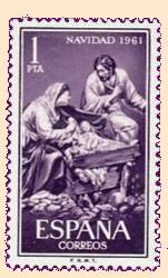 1961 Christmas postage stamp