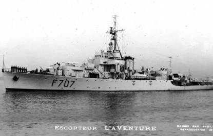 French frigate L'Aventure