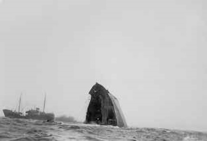 The sinking of the Tifón. May, 1955